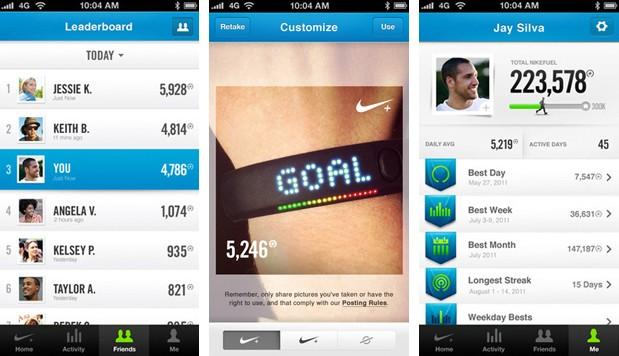 Le partage de vos données grâce à l'application Nike+ FuelBand