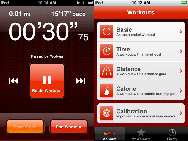 Nike + et son interface Ipod