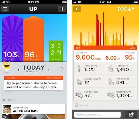 Les objectifs quotidiens Jawbone UP 24