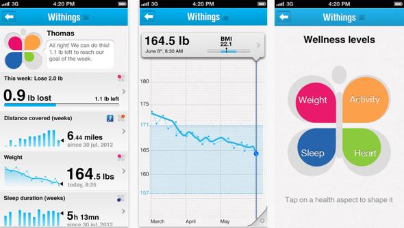 L'application Withings et ses nombreuses fonctionnalités